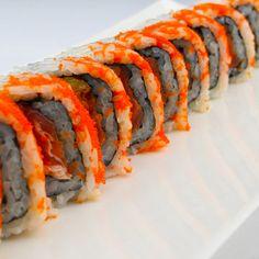 Crazy Roll: Shrimp Tempura, Spicy Tuna, Cucumber & Masago