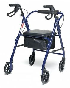 Lumex RJ4900B Walkabout Basic 4Wheel Rollator Blue ** You can get more details by clicking on the image. (This is an affiliate link) Walkabout, Baby Strollers, Health Products, Design, Graham, Blue, Link, Image, Baby Prams