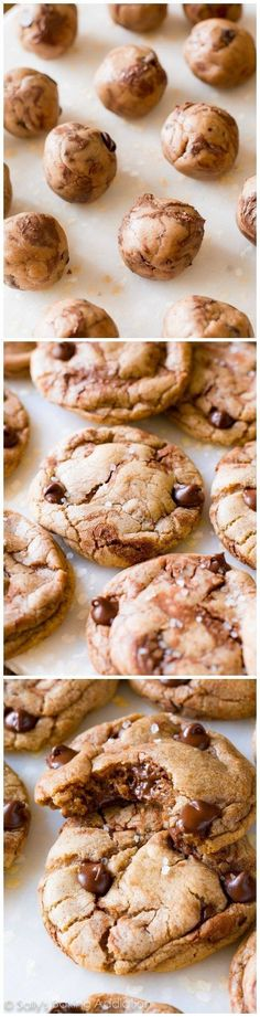Soft and chewy Nutella Chocolate Chip Cookies finished with a sprinkle of sea salt. These are simple and delicious!