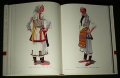 Huge Book Greek Folk Costume Macedonian Ethnic Dress Embroidery Headdress Balkan   eBay