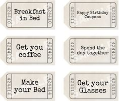 Make a set of fathers day coupons for your dad