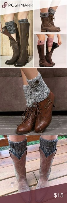 •New• 2 Tone Boot Cuffs Super cute 2 tone boot cuffs with button detail. Comes in Black, Red and Blue  AE4FACMC92217 Accessories Hosiery & Socks