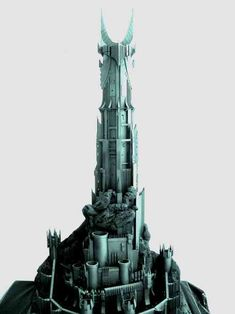 LOTR Scenery building: Hobbiton, Orthanc, etc. Barad Dur, Snow Castle, O Hobbit, Minecraft Projects, Fantasy Miniatures, Middle Earth, Lord Of The Rings, Tolkien, Rey
