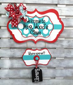 Classroom Decor: Where are We Personalized Sign for Classroom Cute Classroom Decorations, School Decorations, Classroom Setup, Future Classroom, School Classroom, Classroom Organization, Teacher Hacks, Teacher Gifts, Teachers Corner