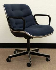 New and Used Knoll Pollock Used Vintage Style Executive Desk Chair, Blue
