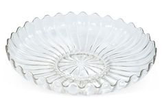 Heisey Glass Bowl on OneKingsLane.com Heisey was formed in Newark, Ohio in 1895 - 1957 marked H  1930-40 $99 - S