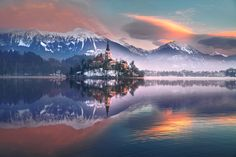 Sunrise over Bled by İlhan Eroglu - Photo 134717171 - 500px
