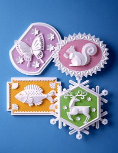 Lovely little paper sculptures - Artist Unknown