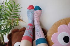 Illustration Socks by Odd Pears. Shop Now: http://www.oddpears.com/shop/