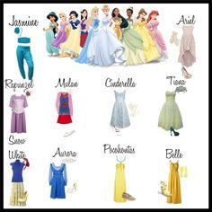 disney outfits for princesses