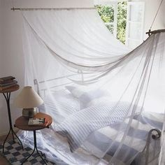 【モスキートネット】さわやか系 : 蚊帳(かや)をおしゃれに使いこなしたインテリア画像集 - NAVER まとめ