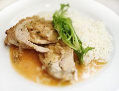 Denné menu Vranov | Bravčový závitok plnený cesnakovou plnkou, dusená ryža - reštaurácia Hotel Patriot*** #hotel #restauracia #dennemenu