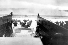 Famous photo of D Day invasion, Omaha Beach, Normandy June 6, 1944