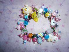 Easter Bracelet by beadiebracelet on Etsy