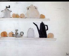 """Nicolas De Staël - """" L'étagère """", 1955 - Huile sur toile - x 116 cm - Museum Ludwig, Cologne Painting Still Life, Still Life Art, Still Life Images, Abstract Landscape Painting, Landscape Paintings, Abstract Art, Oil Paintings, Museum Ludwig, Art For Art Sake"""
