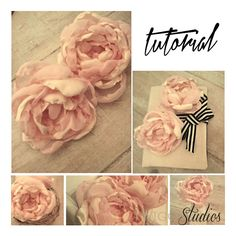 thrifted fabric peonies tutorial