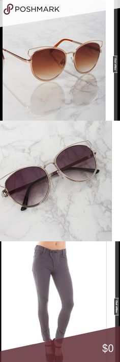 Fun & trendy sunnies in a dark silver & rosy gold Finish off any outfit with some sexy cat eye shaped edgy sunnies. Fun and on trend.  Polarized lenses with 100% UV Accessories Sunglasses