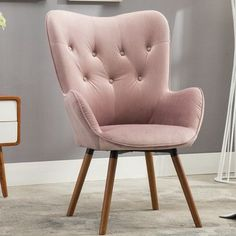 online shopping for Roundhill Furniture Doarnin Contemporary Silky Velvet Tufted Button Back Accent Chair, Mauve from top store. See new offer for Roundhill Furniture Doarnin Contemporary Silky Velvet Tufted Button Back Accent Chair, Mauve Pink Accent Chair, Velvet Accent Chair, Accent Chairs, Living Room Chairs, Living Room Furniture, Dining Chairs, Elegant Home Decor, Elegant Homes, Accent Furniture