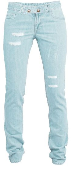 Distressed slim jeans by Valeria Tilli