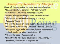 Practical Life Tips For You And Me: #‎Homeopathy‬ ‪#‎Remedies‬ for ‪#‎Allergies