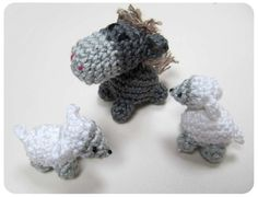 Crochet Pattern Nativity Animals  Haakpatroon kerststaldiertjes