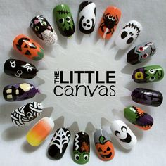 The Little Canvas: Halloween Nail Art Wheel