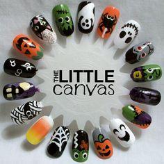 The Little Canvas: Halloween Nail Art Wheel