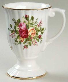 Royal Albert Old Country Roses Footed Fluted Mug