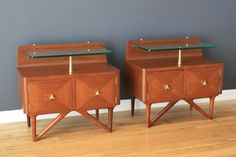Italian Night Stands-MIDCENTURY MODERN FINDS- $1440 for the pair