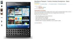BlackBerry Passport: 4.8 Estrellas de 5 posibles en Amazon
