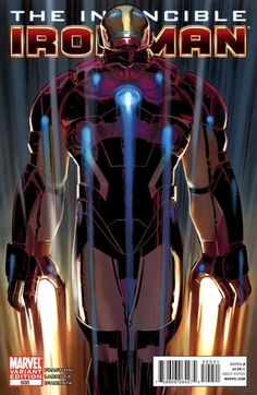 Invincible Iron Man # 500 (Variant) by John Romita Jr. & Klaus Janson