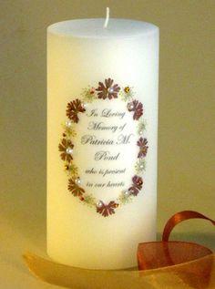 Autumn - Fall Elegance Swarovski Crystal Memorial Candle:  http://www.weddingsarefun.com/autumn-elegance-swarovski-crystal-memorial-candle.html