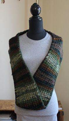Most Popular Crochet Infinity cowl scarf by KariLynnsKumfortshop,