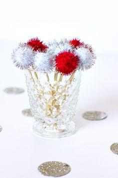 DIY Pom Pom Toothpicks