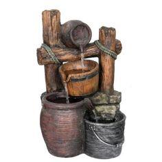 Beckett Rustic Pots Fountain-7235510 - The Home Depot
