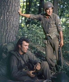 Clint Eastwood, Telly Savalas / Kelly's Heroes 1970 directed by Brian G. Actor Clint Eastwood, Scott Eastwood, Hollywood Stars, Classic Hollywood, Peliculas Western, Kelly's Heroes, Westerns, War Film, Best Supporting Actor