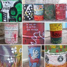 Spray paint (other than picture), nice trash cans on terrace