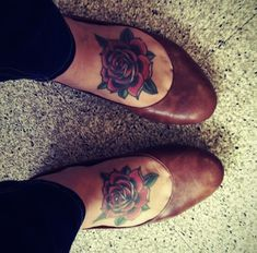 classic style red rose tattoos