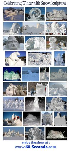 """So we got a pile of snow last night so I went looking for snow sculptures ... there are thousands of images out there in scraper and spam sites -- I picked out some of the better and most unique ones at """"safe"""" sites to share with you . . . enjoy and stay warm!"""