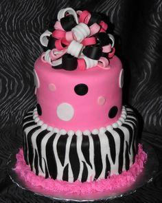 girls birthday cake party-ideas