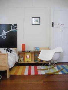 Stuart Vokes shares his son's bedroom - Eames rocker