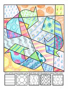 """""""Pop Art"""" Earth Day interactive coloring sheets!"""