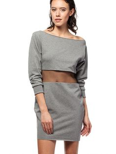 Sukienka Sukienka Model BW002 Grey - BeWear