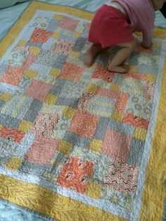 Emma's quilt - disappearing nine patch