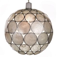 £25, Dimensions: 24 cm x 20.5 cm ,Pearl White Capiz Globe Pendant Shade, NEW & FREE POSTAGE BOXXIT-UK in Home, Furniture & DIY, Lighting, Ceiling Lights & Chandeliers | eBay