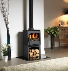 The ACR Earlswood LS stove - a tall version with logstore underneath