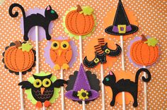 12 Halloween Cupcake Toppers  Halloween Party by sosweetpartyshop, $10.00