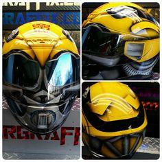 Custom Airbrushed Motorcycle Helmet by Airgraffix.com 099