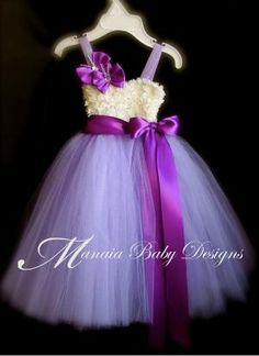 This will be my flower girl dresses!!! Purple Tutu Dress  / Lavender Tutu Dress / by ManaiaBabyDesigns, $34.00 by harriett