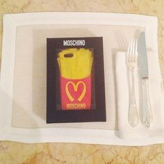 Moschino food/phone cover